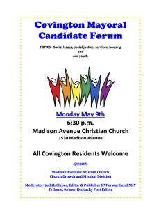 CovingtonNeighborhoodCandidateForum 1