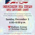 MACC to Host Evening of Hope for Puerto Rico December 3rd