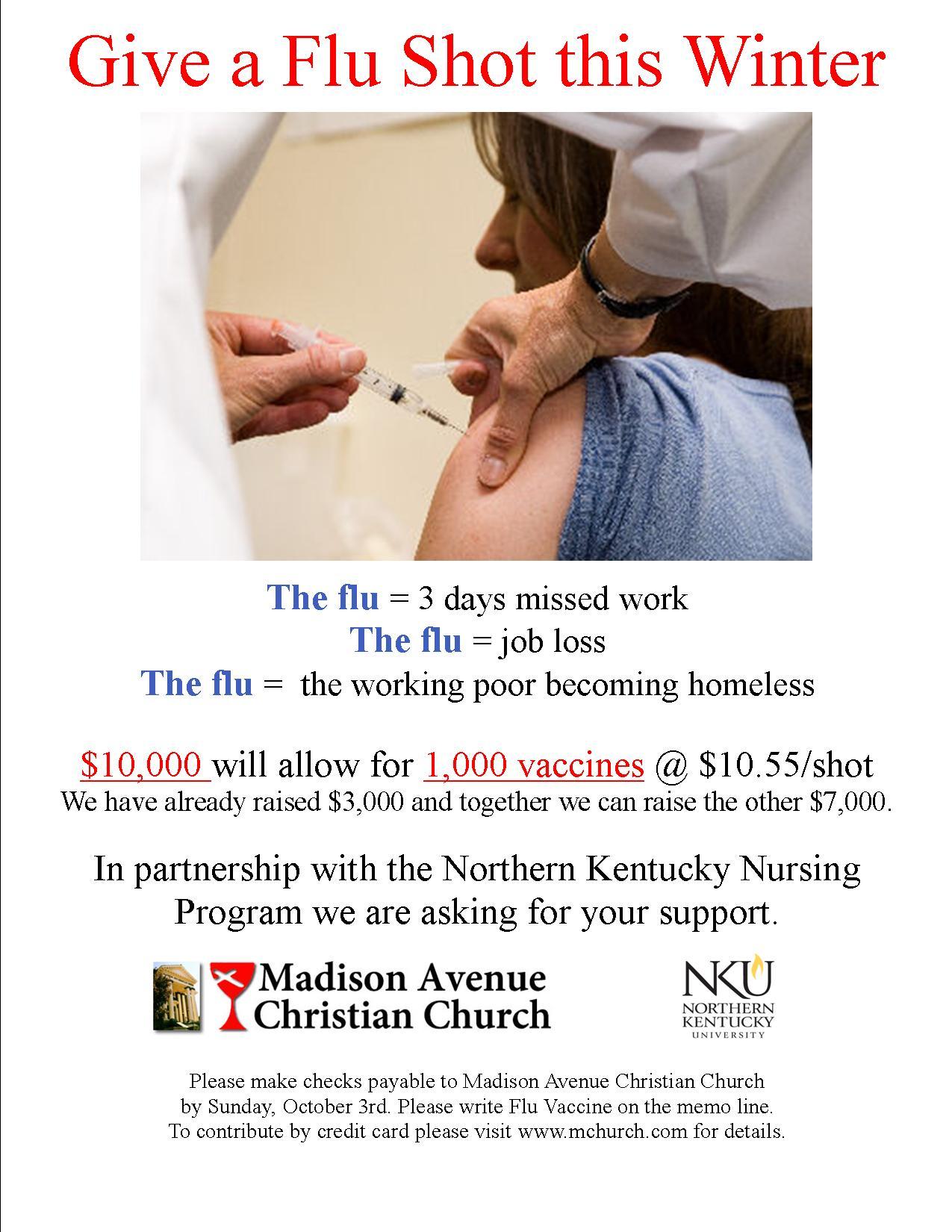 Flu Vaccine Flyers Free: Madison Avenue Christian Church